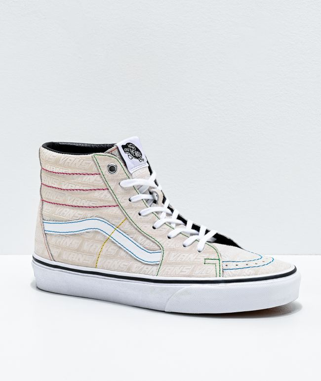 Vans Sk8-Hi Emboss White \u0026 Multi Skate