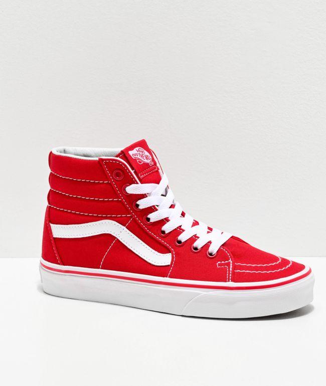 Vans Sk8-Hi Formula Red Canvas Skate