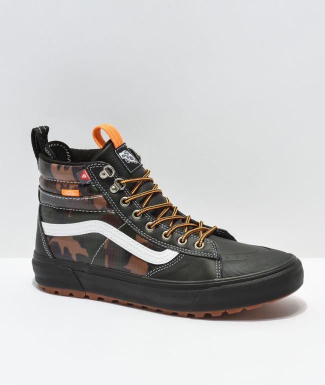 Vans Sk8-Hi MTE DX 2.0 Black & Brown Camo Shoes