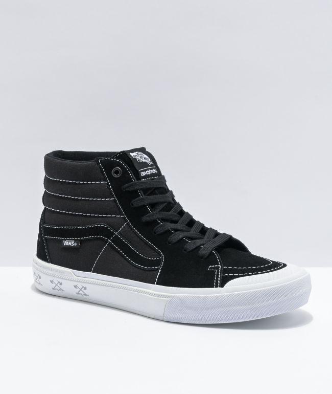 Vans Sk8-Hi Pro BMX Demonlition Black & White Skate Shoes