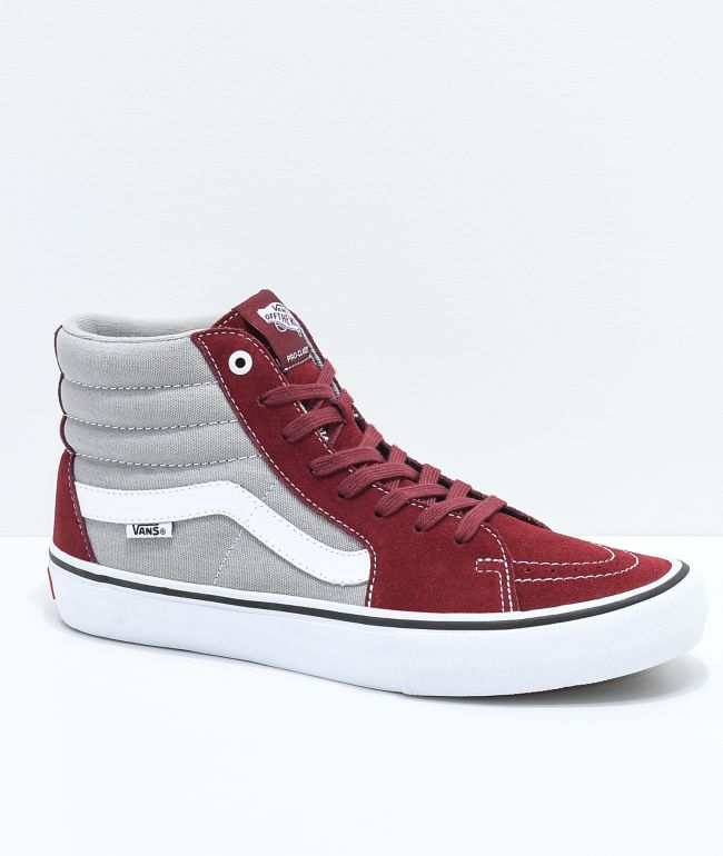 Vans Sk8-Hi Pro Cabernet, Grey \u0026 White