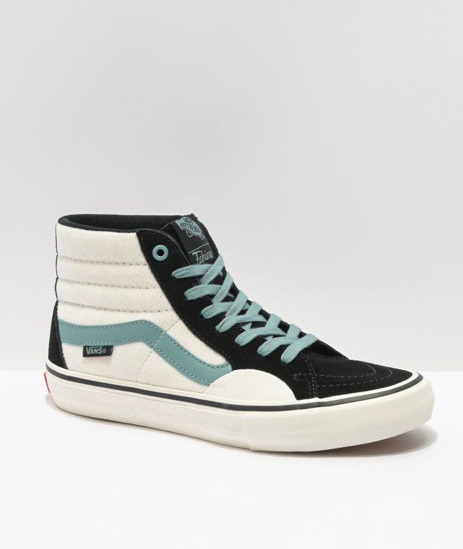 Vans Sk8-Hi Pro Delfino Black, Oil Blue & White Skate Shoes