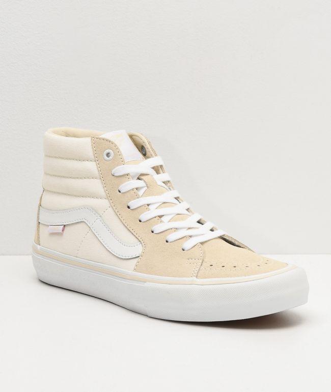 Vans Sk8-Hi Pro Marshmallow White Skate Shoes