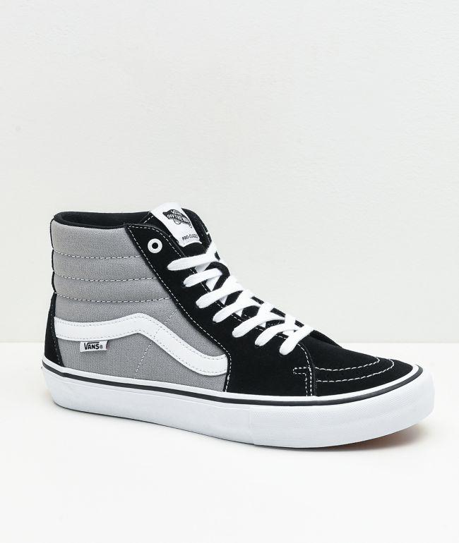 Vans Sk8-Hi Pro Nation Black & Silver Skate Shoes | Zumiez