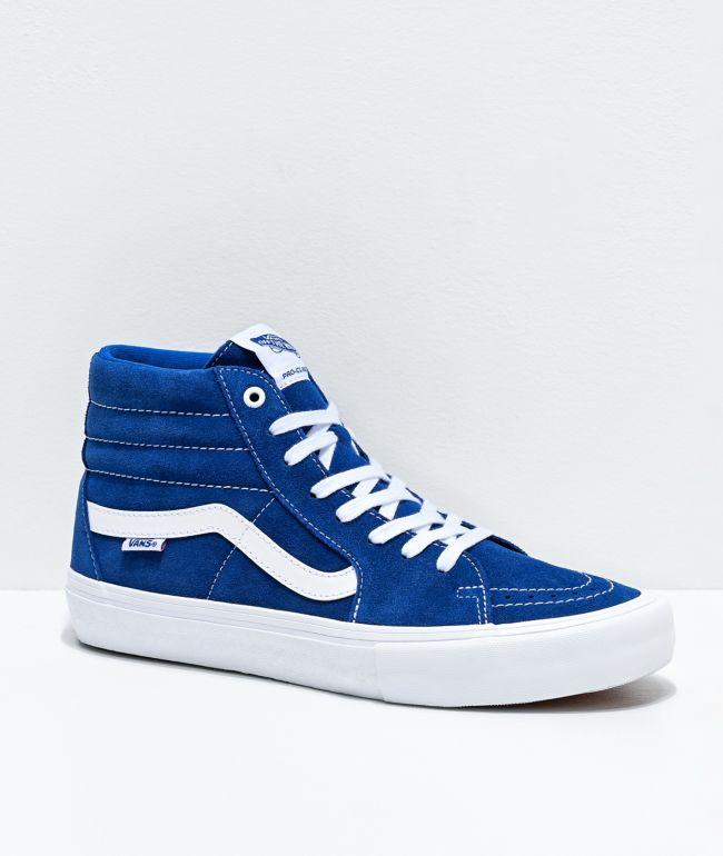 Vans Sk8-Hi Pro True Blue & True White Skate Shoes