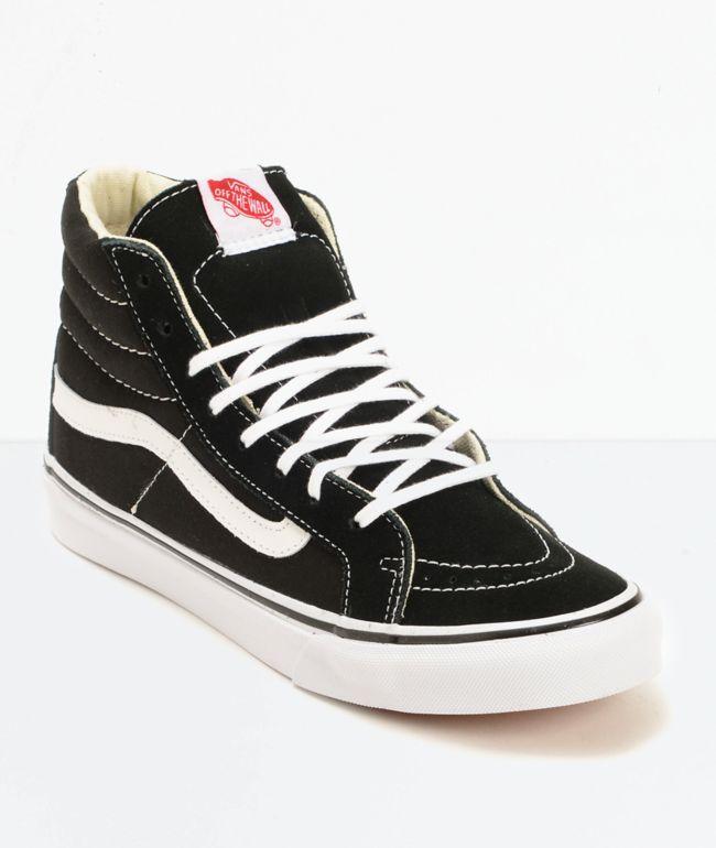 Vans Sk8-Hi Slim Black \u0026 True White