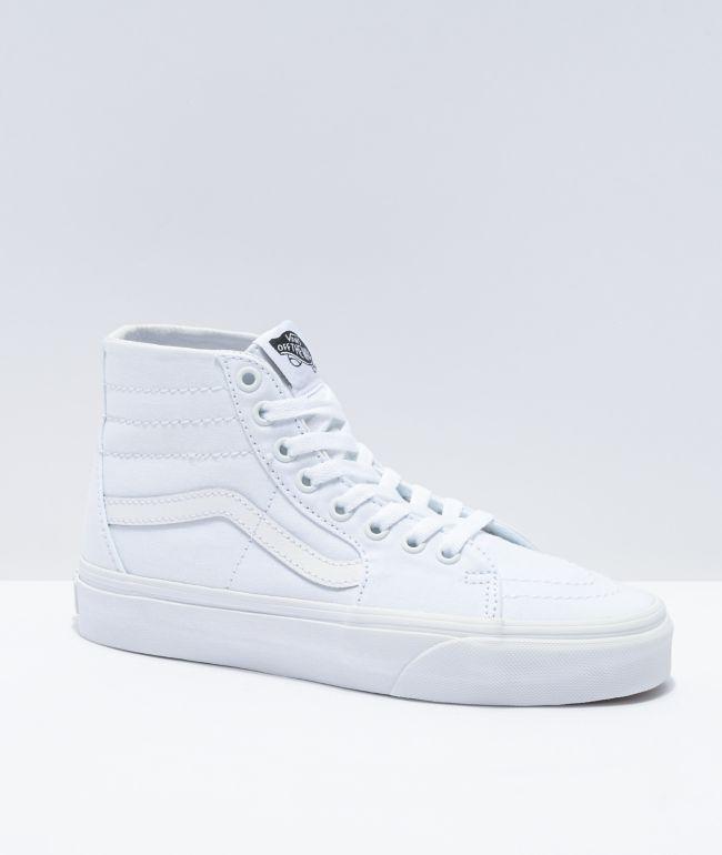 Vans Sk8-Hi Tapered White Canvas Skate