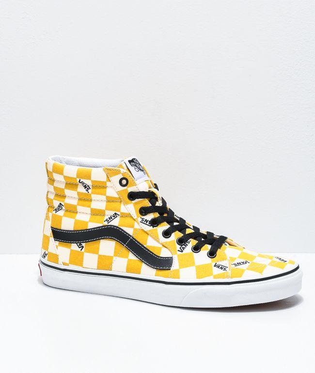 Vans Sk8-Hi Yolk Yellow \u0026 White Big