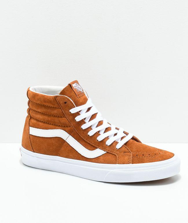 oportunidad constante Bañera  Vans Sk8-Hi zapatos de skate de ante marrón de cerdo | Zumiez