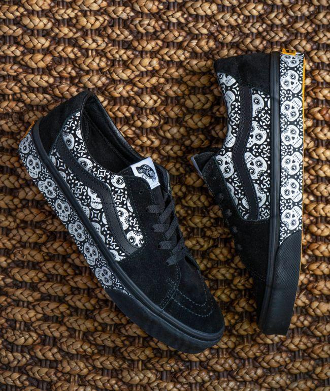 Vans Sk8-Low Dia De Los Muertos Black