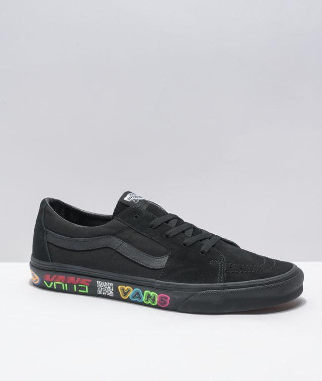 Vans Sk8-Low Disrupt Black Skate Shoes