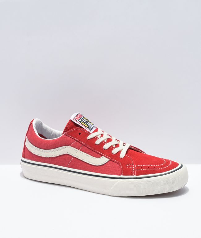 Vans Sk8-Low SF Reissue Washed Red Skate Shoes