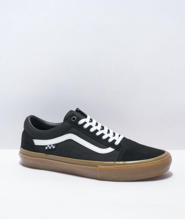 Vans Skate Old Skool Black, White & Gum Skate Shoes