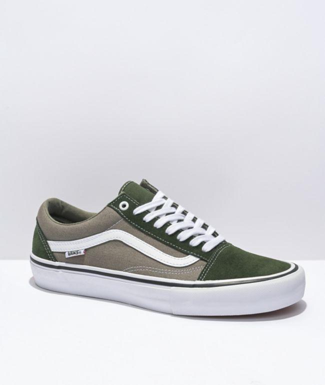Vans Skate Old Skool Forest Green Skate Shoes