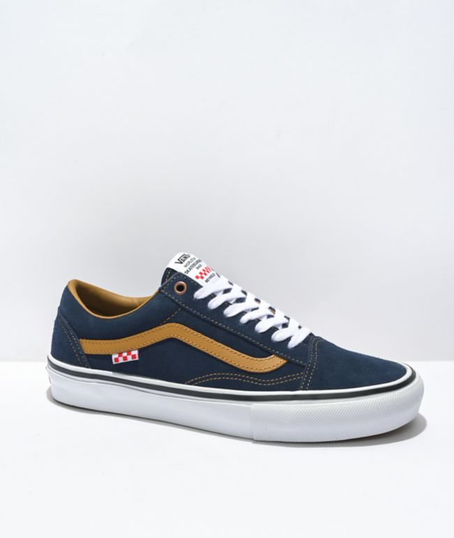 Vans Skate Old Skool Reynolds Navy & Golden Brown Skate Shoes