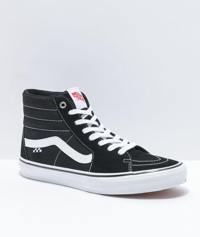 Vans Skate Sk8-Hi Black & White Skate Shoes