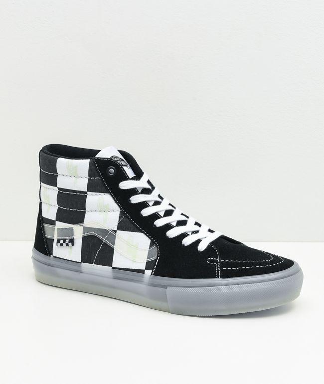 Vans Skate Sk8-Hi Glow-In-The-Dark Skate Shoes