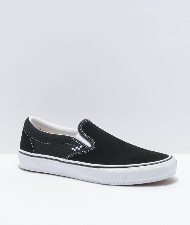 Vans Skate Slip-On Black, White & Gum Skate Shoes