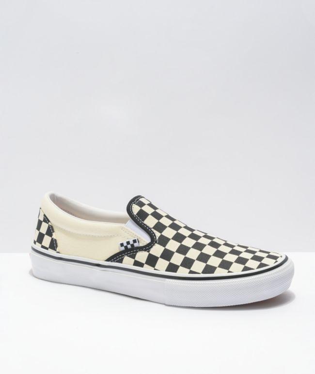 Vans Skate Slip-On Black & White Checkerboard Skate Shoes