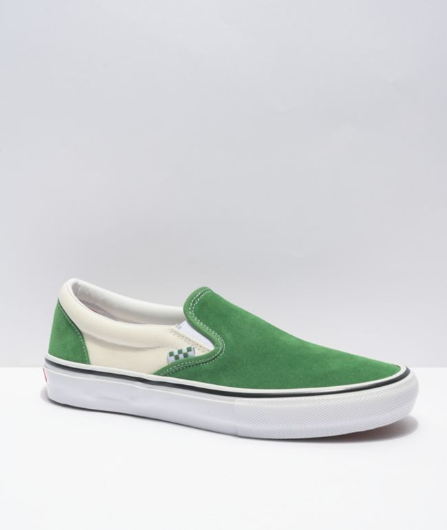 Vans Skate Slip-On Juniper & White Skate Shoes