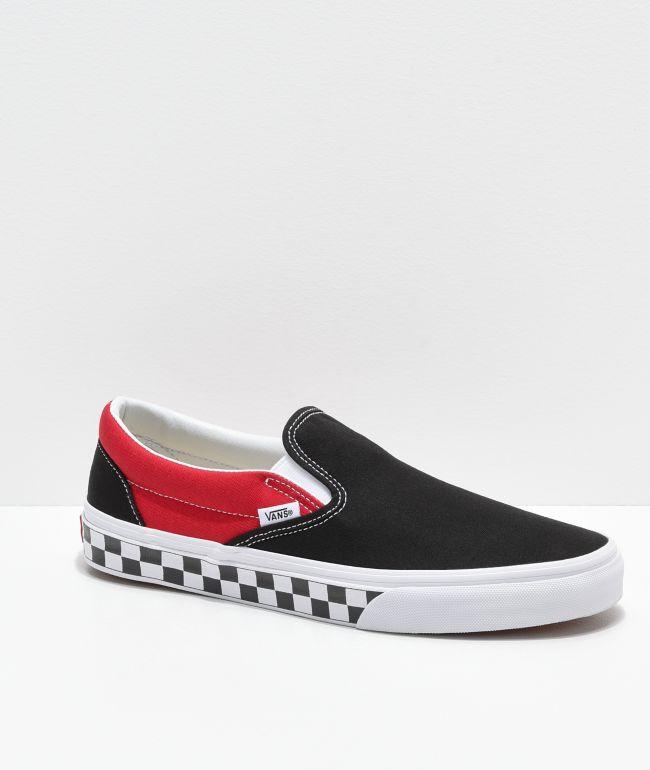 Vans Slip-On BMX Black, Red \u0026 White