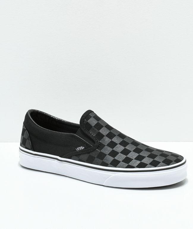 Vans Slip-On Black \u0026 Grey Checkerboard