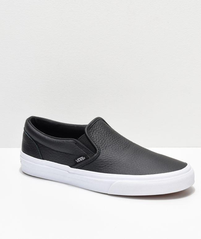 Black Tumbled Leather Skate Shoes | Zumiez
