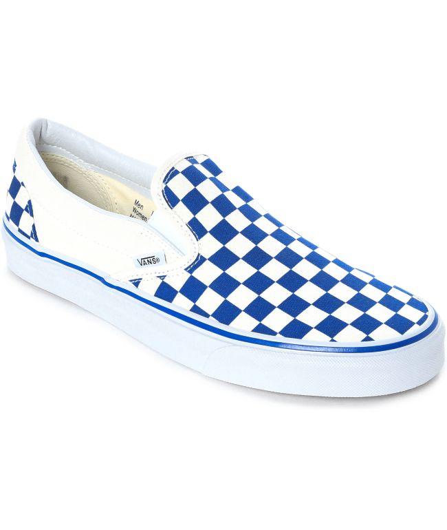 Vans Slip-On Blue \u0026 White Checkered