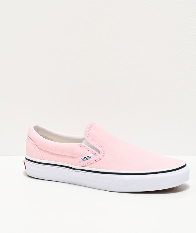 Vans Slip-On Blushing & True White Skate Shoes