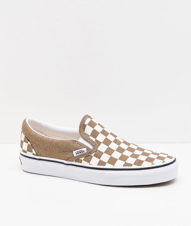 Vans Slip-On Bronze Age Checkerboard Skate Shoes