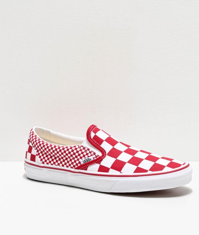 Vans Slip-On Chili Red \u0026 White Mix