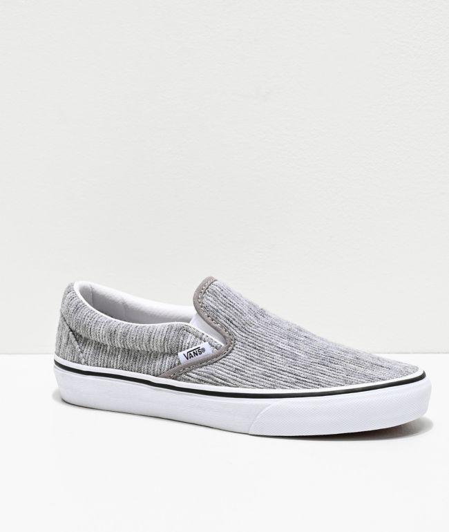 Vans Slip-On Gray Rib \u0026 White Skate