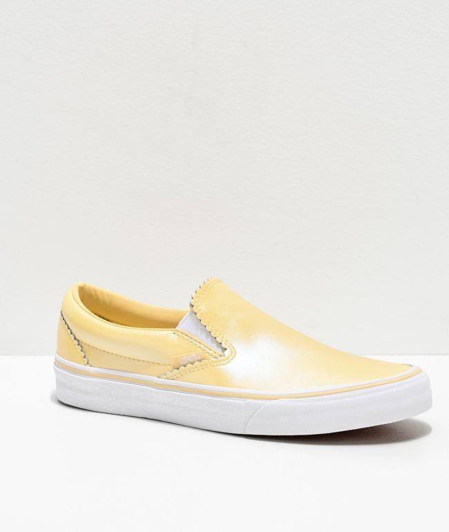 Vans Slip-On Pearl Suede Gold Skate