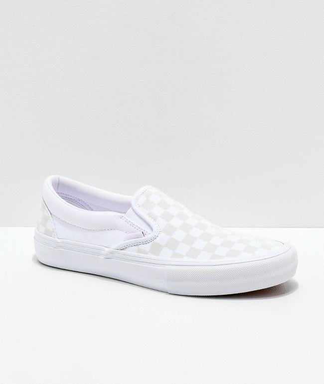 Vans Slip-On Pro Reflect White Skate Shoes
