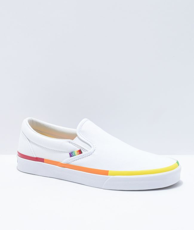 Vans Slip-On Rainbow Foxing \u0026 White