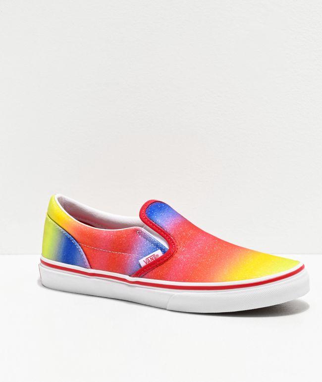 Vans Slip-On Rainbow Glitter Skate