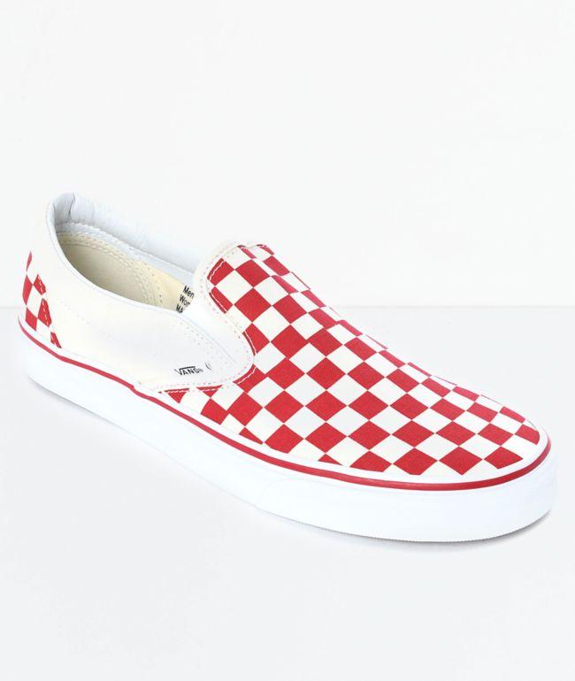 Red \u0026 White Checkered Skate Shoes | Zumiez