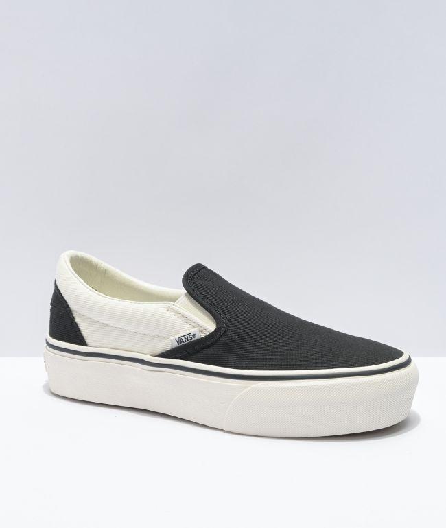 Vans Slip-On SF Karina Black Platform Shoes