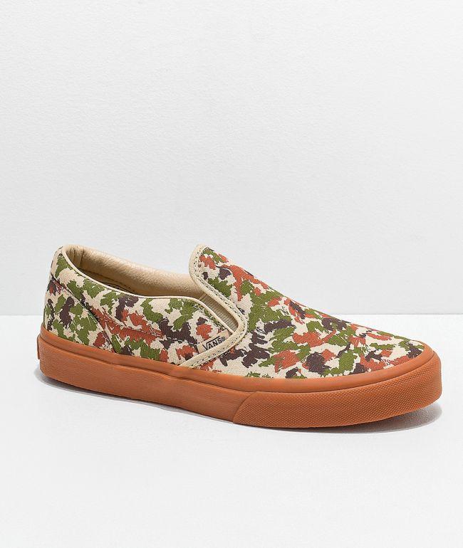 Vans Slip-On Sketch Camo Skate Shoes
