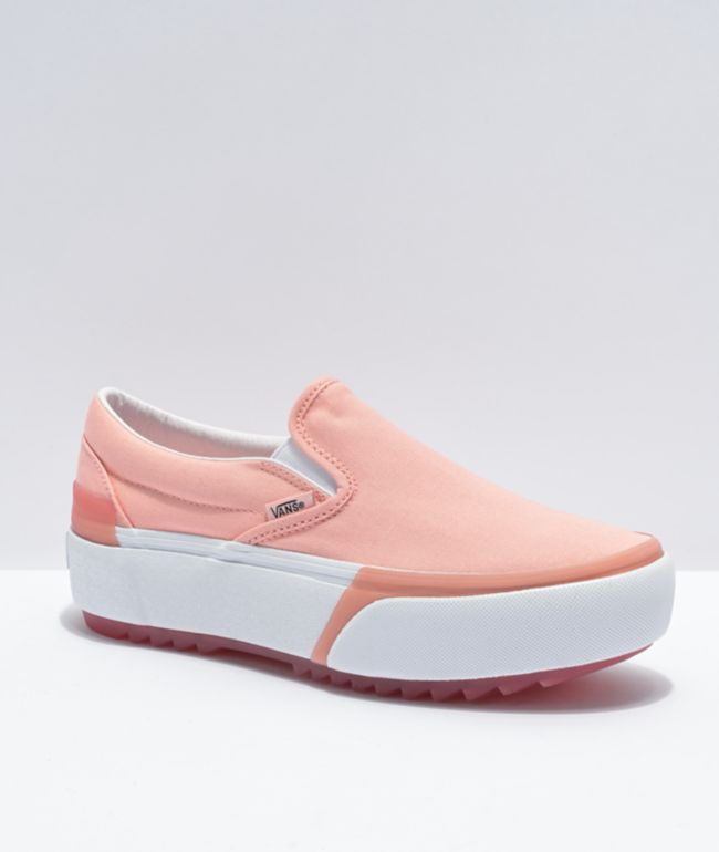 Vans Slip-On Stacked Pink Platform Shoes