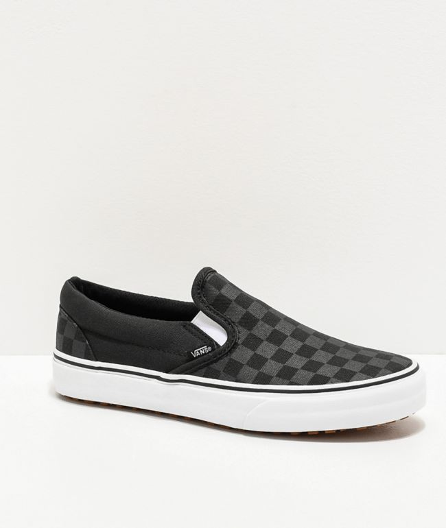 Vans Slip-On UC M4M zapatos negros y blancos de cuadros