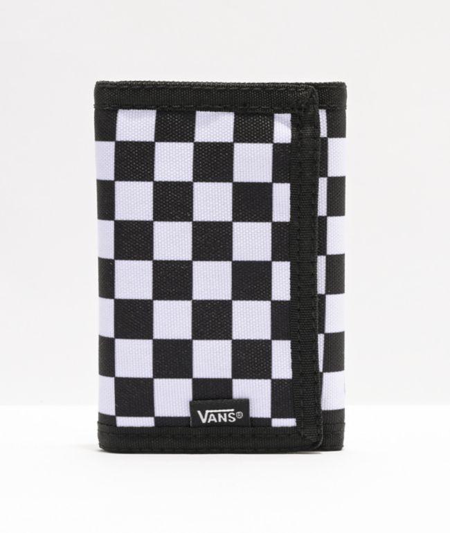 Vans Slipped Black & White Checkerboard Trifold Wallet