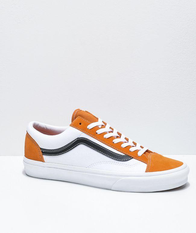 Vans Style 36 Apricot Orange, White