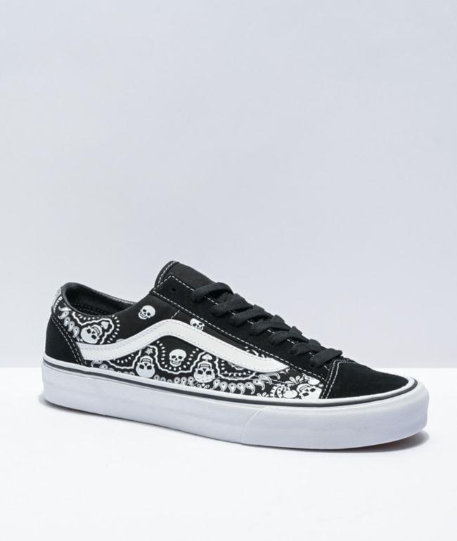 Vans Style 36 Bandana Black & White Skate Shoes