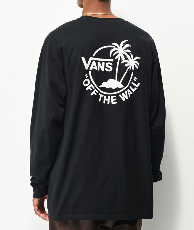 Vans Surf Palm Black Long Sleeve T-Shirt
