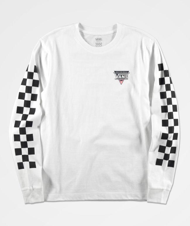 Vans Turn Up White Long Sleeve T-Shirt