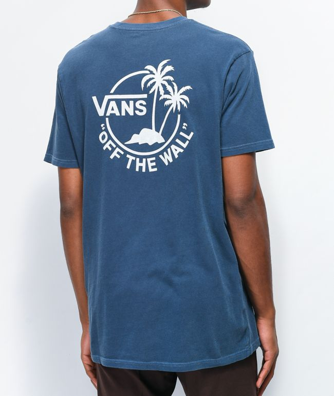 Vans Vintage Mini Dual Palm Blue T-Shirt