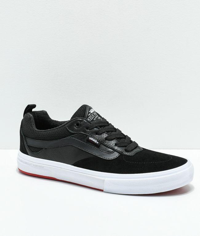Vans Walker Pro Black \u0026 Red Skate Shoes
