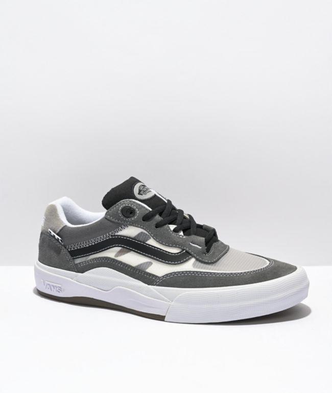 Vans Wayvee Gray & White Skate Shoes