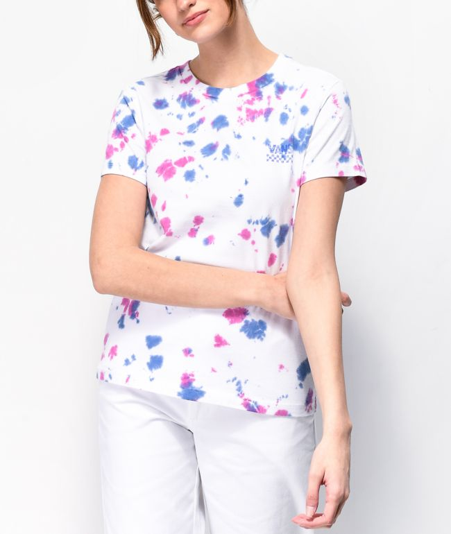 Vans White Tie Dye T-Shirt